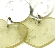 Load image into Gallery viewer, Chunky Martha Sturdy Heart Earrings - Moss Resin