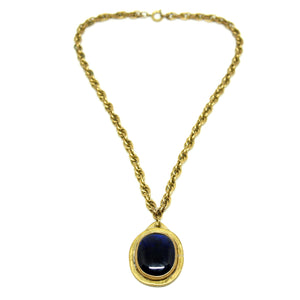 Rafael Canada Necklace - Dark Blue Drop Pendant