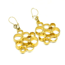 Load image into Gallery viewer, Robert Larin Bubble Earrings - Modernist Brutalist - Gold