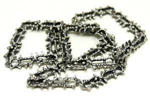 Guy Vidal Chain Necklace - Jagged Space - Modernist Brutalist