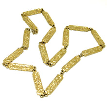 Load image into Gallery viewer, Robert Larin Chain Necklace - Golden Panels - Modernist Brutalist