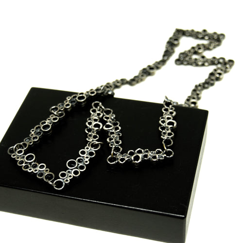Guy Vidal Chain Necklace - Bubbles - Modernist Brutalist