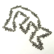 Load image into Gallery viewer, Guy Vidal Chain Necklace - Lines & Dashes - Modernist Brutalist