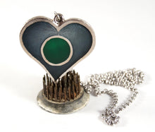 Large Chaudron Heart Necklace - Teal