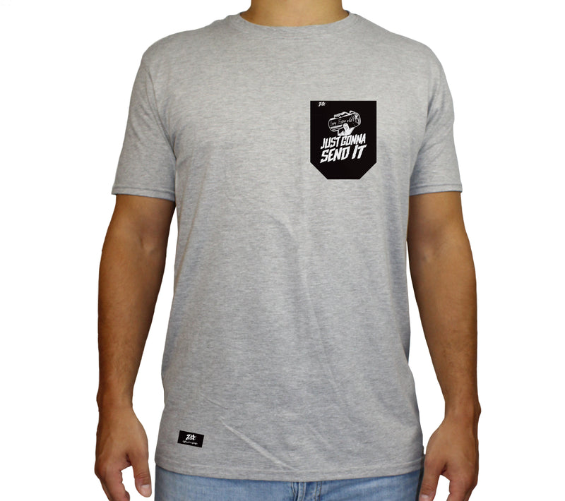 PLX Brand- Pocket Tee Larry Enticer Just Gonna Send It