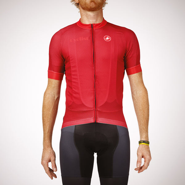 Castelli Cyclist Men's Jersey (Red)