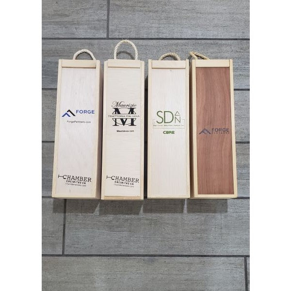 Custom Logo Single Bottle Gift Box - (min 10)