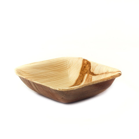 "4"" Square Palm Leaf Bowls in Bulk Pack - 200 pieces"