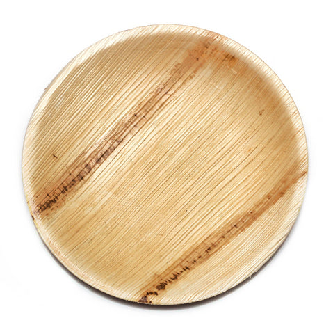 "8"" Round Palm Leaf Plates in Mini Pack - 25 pieces"