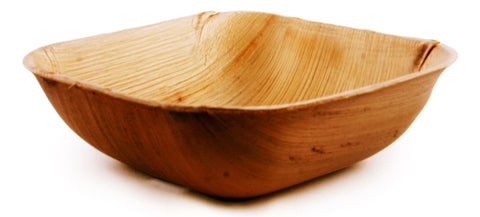 "5"" Square Palm Leaf Bowls in Bulk Pack - 100 pieces"