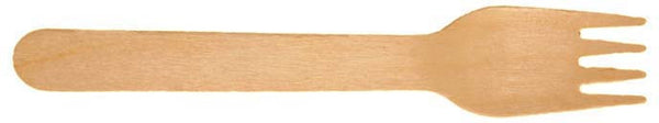 "6 ½"" Wooden Forks in Bulk Case (FSC™-certified) - 6,000 forks"