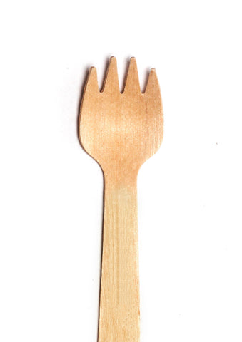 "4"" Wooden Taster Forks in Bulk Pack (FSC™-certified) - 10,000 pieces"