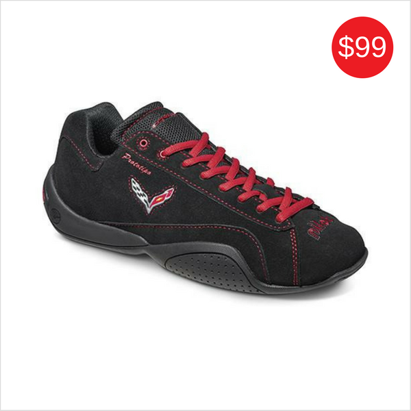 CORVETTE LIMITED EDITION DRIVING SHOES BLACK-RED