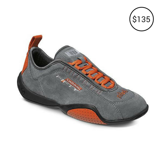 CAMARO LIMITED EDITION DRIVING SHOES CHARCOAL-ORANGE