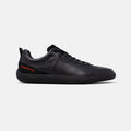 Men's black leather Corvette Sector sneaker with black cup sole, lateral view