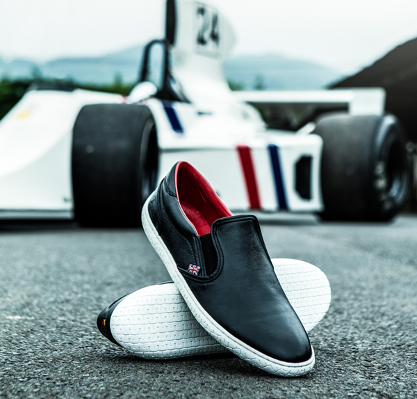Shop our James Hunt driving shoe collection >