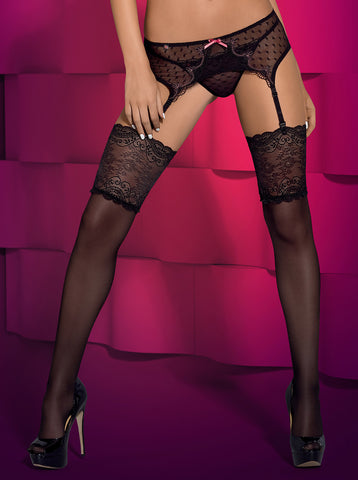 Obsessive Subtelia stockings black XXL [diabella_lingerie]