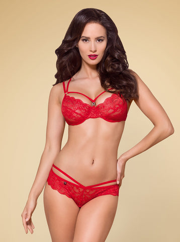 Lingerie set Obsessive 860-SET red