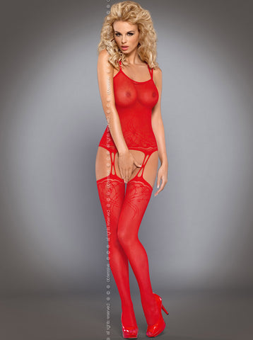 Bodystocking Obsessive F206 Red [diabella_lingerie]