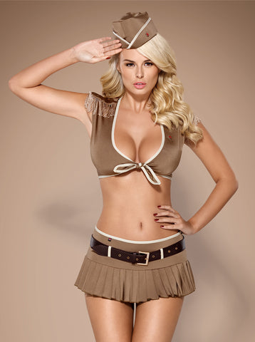 Erotic soldier girl costume Obsessive 814-CST-4 [diabella_lingerie]