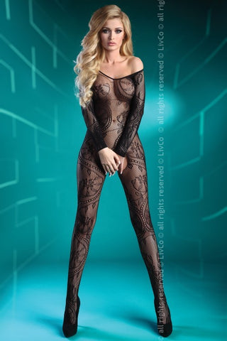 Bodystocking LivCo Corsetti Fashion Abra Black LC 17086