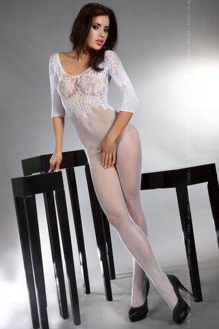 Bodystocking LivCo Corsetti Fashion Josslyn White [diabella_lingerie]