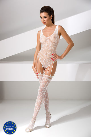 Bodystocking Passion BS051 white [diabella_lingerie]