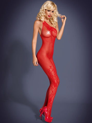 Bodystocking Obsessive F203 red [diabella_lingerie]