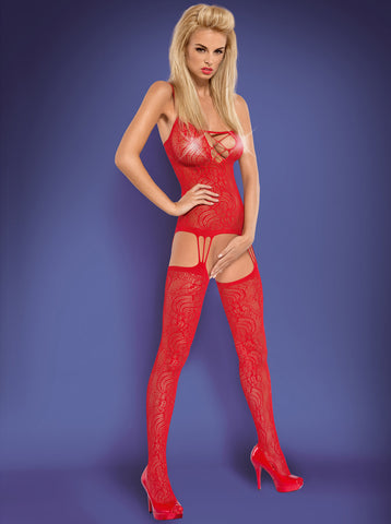 Bodystocking Obsessive F208 red [diabella_lingerie]