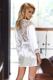 Dressing gown Beauty Night Prilance white [diabella_lingerie]