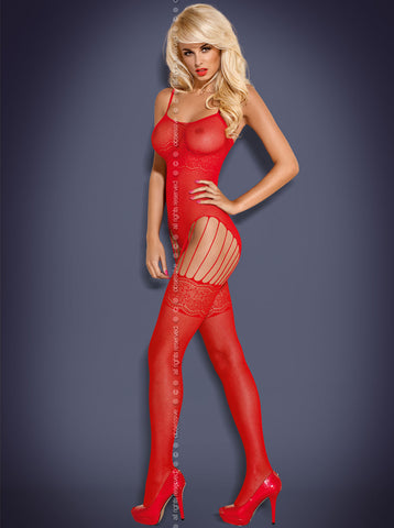 Bodystocking Obsessive F207 red [diabella_lingerie]