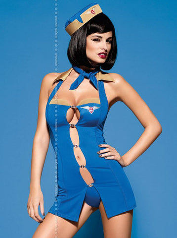 Stewardess costume Obsessive Air Hostess Set [diabella_lingerie]