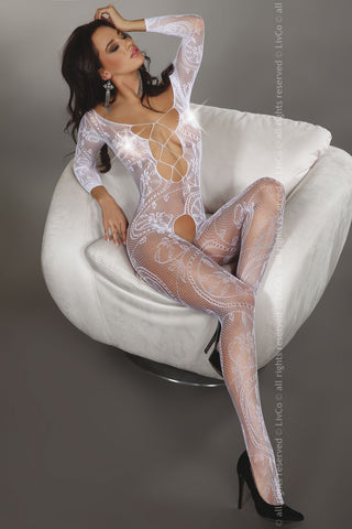 Bodystocking LivCo Corsetti Fashion Zita white [diabella_lingerie]