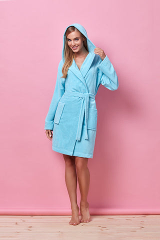 Bathrobe L&L Lori Light blue [diabella_lingerie]
