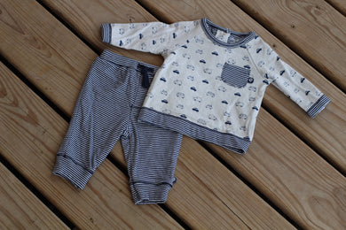 2 Piece Car Jogger Set - Navy
