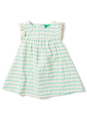 Turquoise Frill Dress