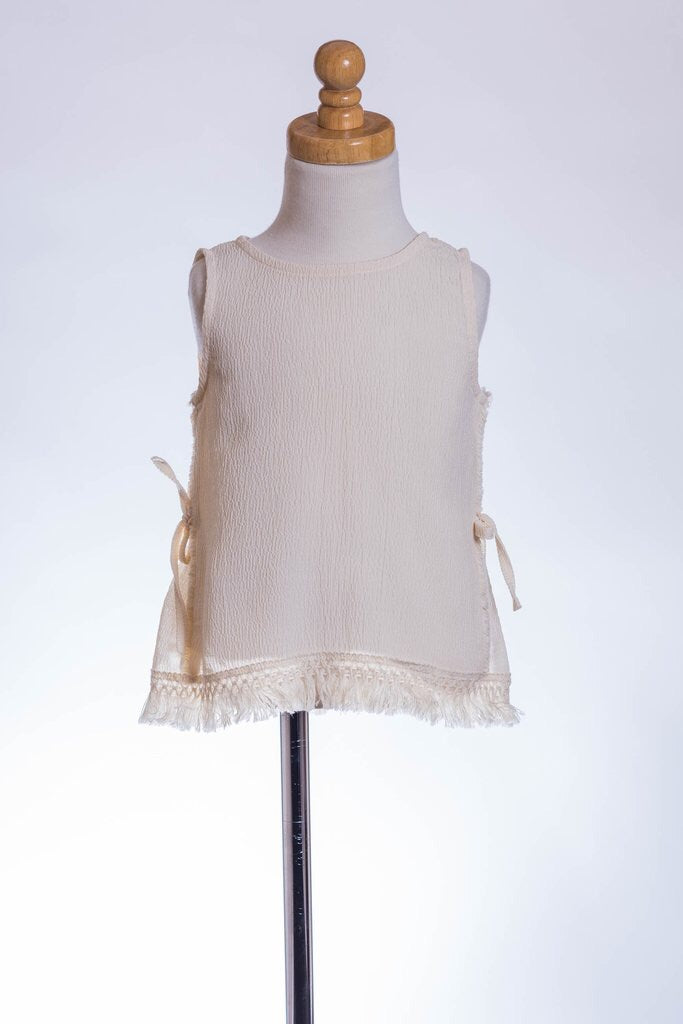Ivory Top with Fringe