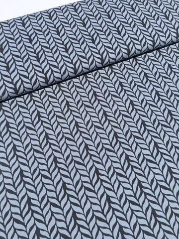 Organic Stretch French Terry Knit - GRAY PLAIT