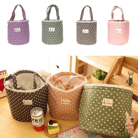 Waterproof Thermal Cooler Insulated Lunch Container Lunch Box Carry Bag lunch bag Sweet Tote Picnic Pouch for Women 4 Colors