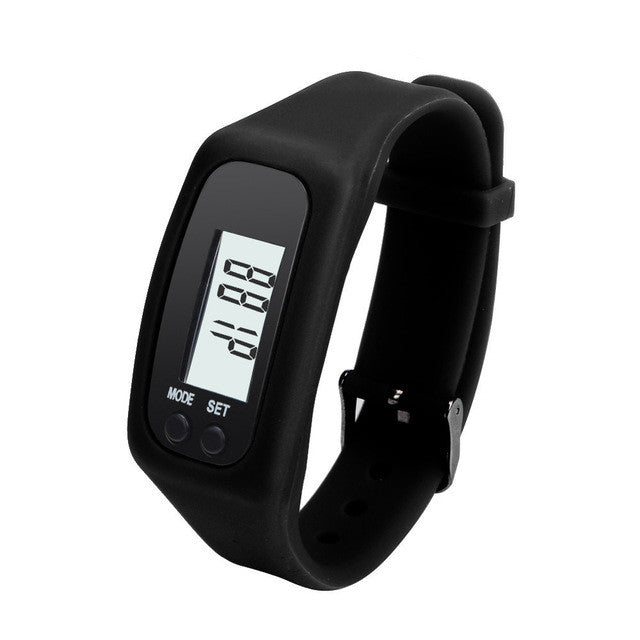 New Listing electronic Outdoor sport utility Digital LCD Pedometer Run Step Walking Distance Calorie Counter Watch Bracelet