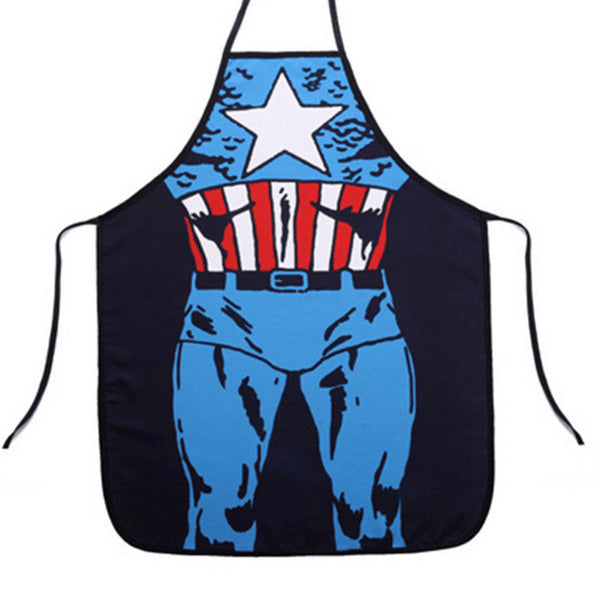 2017 New Funny Cooking Kitchen Superhero Apron Sexy Superman Batman For Men Women Home BBQ Dinner Party Apron