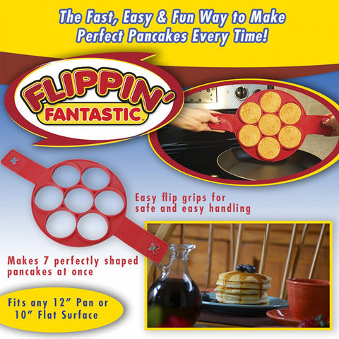 2017 Flippin' Fantastic Nonstick Pancake Maker Egg Ring Maker As Seen On TV Easy