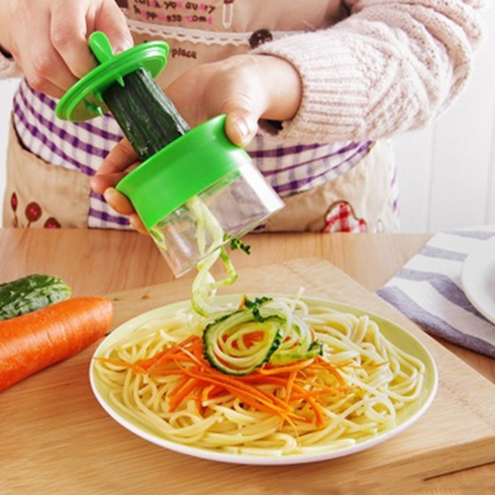 Kitchen Vegetable Spiralizer HandHeld Spiral Grater Carrot Slicer Spaghetti Pasta Julienne Cutter Peeler Fruit Spiral Slicer
