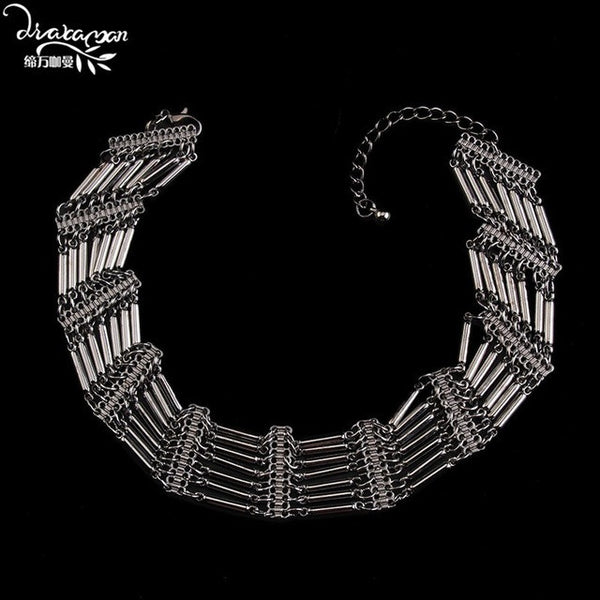 Dvacaman Brand 2017 Hot Sale Chokers Necklace Women Boho Style Maxi Statement Jewelry Party Collar Accessories Femme Bijoux O38