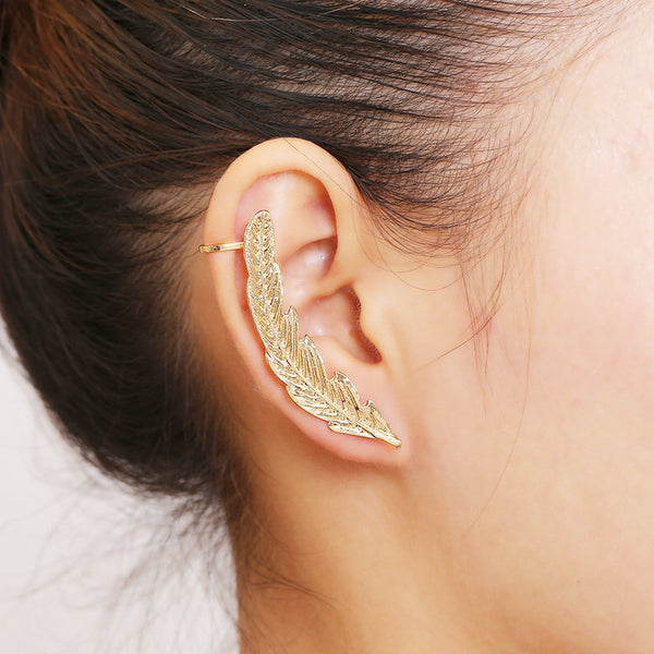 2017 New Earings Fashion Jewelry Leaves Earrings For Women Summer Silver Gold Color Charm Earrings