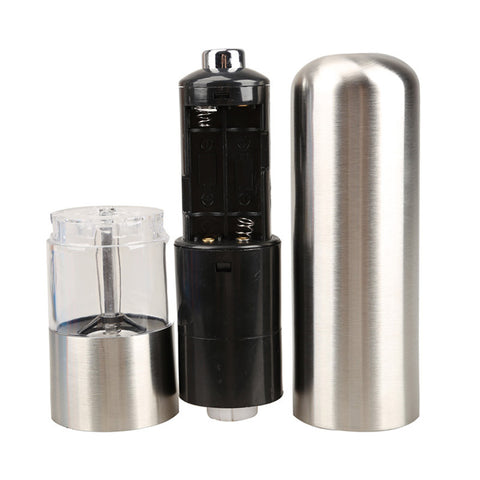 Aluminum Alloy Automatic Battery Operated Salt Pepper Mill Grinder Kitchen Accessories