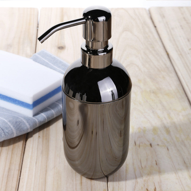 Empty Hand sanitizer bottles stainless steel soap dispenser black shampoo shower gel lotion bottle emulsion pump container