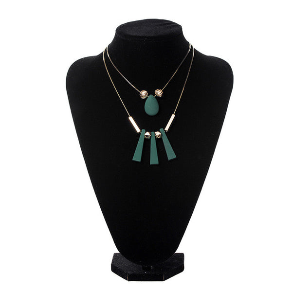 Match-Right Women Necklace Statement Necklaces & Pendants Wood 2 Layers Necklace For Women Jewelry SP015