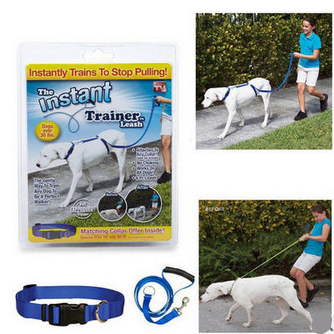 CUBE MARKET PET SHOP New Instant Trainer Leash As Seen On TV Large - Over 30 lbs.Dogs walking training harness leash leader