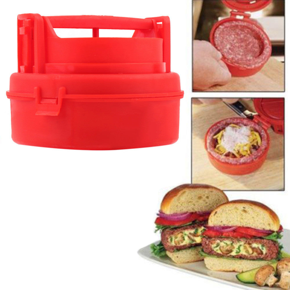 1pcs Stuffed Burger Press Hamburger Grill BBQ Patty Maker Juicy As Seen On TV Hot Worldiwde hot selling